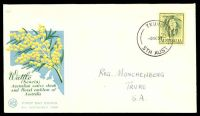 Lot 4714 [3 of 5]:WCS 1959-60 Flowers set to 3/- (no 2/3d white paper) tied to individual illustrated FDCs. (5)