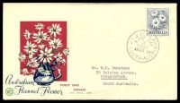 Lot 4694 [4 of 5]:WCS 1959-60 Flowers set to 3/- (no 2/3d white paper) tied to individual illustrated FDCs. (5)