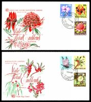 Lot 4760:WCS 1968 Flowers set tied to two illustrated FDCs by Russell St cds both unaddressed.
