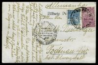 Lot 3720:1935 use of PPC of San Paulo sent to Germany with Condor Zeppelin Lufthansa handstamp in black.