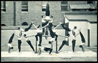 Lot 49 [1 of 2]:Australia - New South Wales: black & white PPC for NSW Fire Brigade Sydney showing Gymnastic team forming Pyramids, a great card.