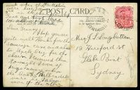 Lot 481 [2 of 2]:Fiji: black & white PPC '16. Ogea Harbor Lau Fiji' used from NSW in 1909. [Not listed? in John Dear]