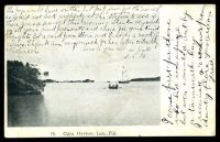 Lot 481 [1 of 2]:Fiji: black & white PPC '16. Ogea Harbor Lau Fiji' used from NSW in 1909. [Not listed? in John Dear]