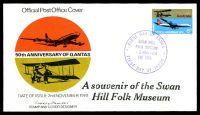 Lot 4656:1970 Qantas Anniversary illustrated FDC with added 'A Souvenir of the Swan Hill Folk Museum' and special Swan Hill Folk Museum cds 2 Nov 1970.
