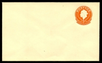 Lot 3230:1966-78 QEII Embossed ASC #E46 5c orange on buff with Postcode added to flap.