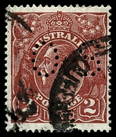 Lot 285:2d Red-Brown Die I: BW #98ba perf 'OS'.