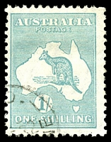 Lot 165:1/- Emerald BW #34w CTO .