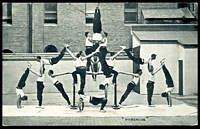 Lot 361 [1 of 2]:Australia - New South Wales: black & white PPC for NSW Fire Brigade Sydney showing Gymnastic team forming Pyramids, a great card.