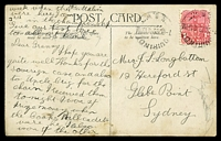 Lot 445 [2 of 2]:Fiji: black & white PPC '16. Ogea Harbor Lau Fiji' used from NSW in 1909. [Not listed? in John Dear]