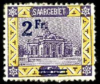 Lot 27070:1921 Surcharge Scenes Mi #81A 2Fr on 5M