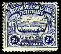 Lot 4148:1907 Large Canoes SG #3 2d indigo.