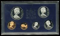 Lot 147:Fiji: 1978 Cased proof set of six to 50c.