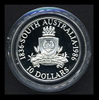 Lot 36 [2 of 2]:Australia: 1986 South Australia Silver $10 cased proof.