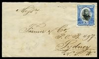 Lot 4731 [1 of 2]:1898 commercial cover to Sydney with 2½d blue (SG 43) affixed but not cancelled and fine backstamp Sydney JY25/98.