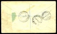 Lot 26611 [2 of 2]:1934 Registered cover to Dunedin with 4d violet KGV tied by Wellington cds 20SE 34 with boxed 'AWAY FROM H[OME]/NOTICE LEF[T]