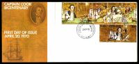 Lot 723:APO 1970 Captain Cook illustrated FDC with 5c strip and 30c tied by Ballarat of 20AP70, unaddressed.