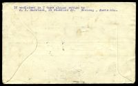 Lot 5373 [2 of 2]:1931 Australia - England AAMC #222,245 boomerang cover with Australian adhesives tied by Geelong cds 16NO31 and English adhesives tied by Sutton Coldfield cds 17DE 31 and Melbourne receiving machine cancel at base 22 JAN 1932.