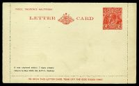 Lot 469:1930-39 2d Red KGV Sideface New Design 'TO OPEN THIS LETTERCARD' BW #LC64 with Private printing for W. S. Friend & Co Sydney.
