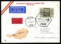 Lot 16614 [1 of 2]:1966 Innsbruck - Vienna illustrated cover for Austrian Airlines with special Pictorial cancel 6 6 1966.