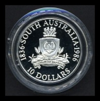 Lot 162 [2 of 2]:Australia: 1986 South Australia Silver $10 cased proof.