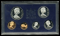 Lot 164:Fiji: 1978 Cased proof set of six to 50c.