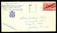 Lot 4513:1940s cover to Australia with USA 6c Air tied by Sydney machine cancel mailed from APO 503 Oro Bay.
