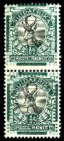 Lot 4338:1930-45 'SUIDAFRIKA' One Word SG #42a ½d black & green, showing two Afrikaans stamps se-tenant.