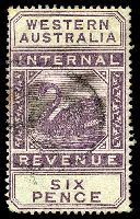 Lot 17516:1893 Long Types Wmk Crown/CA SG #F14 6d dull purple.