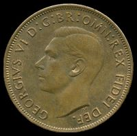 Lot 116 [1 of 2]:Australia: 1951 PL 1d.