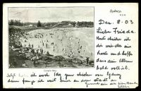 Lot 1345 [1 of 2]:Coogee: - black & white PPC 'Coogee Bay', early card undivided back, used.  PO 4/4/1894.