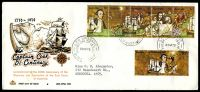 Lot 737:Royal 1970 Cook se-tenant strip of 5 and 30c tied to long illustrated FDC by Brisbane cds 20AP70, neat typed addressed.