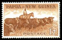 Lot 24325:1958-60 Pictorials SG #22 1/7d Cattle