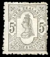 Lot 4220 [1 of 2]:1882-1900 Inscribed Postage & Revenue SG #242 5d olive black P11.