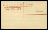 Lot 2109 [2 of 2]:1901 3d Red-Orange Stieg #C9 'REGISTERED.' box 52mm.