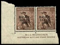Lot 20153:6d Kookaburra McCracken Imprint pair BW #J4z.