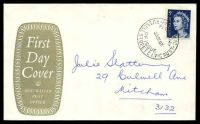 Lot 722:APO 1967 5c Blue QEII tied to grey-green Oval Official FDC by Russell Street cds 29SE67, hand addressed.