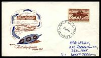 Lot 529:Royal 1961 5/- Cattle tied to illustrated FDC by East Geelong cds 26JY61.