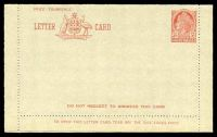 Lot 470:1953-54 3½d Red QEII Admonition in Red Panel BW #LC76 with Senders address and three lines added on reverse, unused.