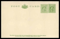 Lot 991:1941-43 1d+1d Green QE Doubleton BW #P71 unused.