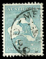 Lot 215:1/- Emerald - BW #34
