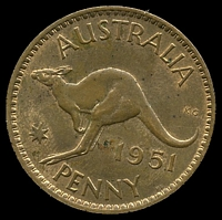 Lot 109 [2 of 2]:Australia: 1951 PL 1d.