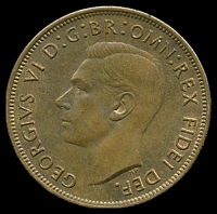 Lot 109 [1 of 2]:Australia: 1951 PL 1d.