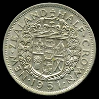 Lot 31 [2 of 2]:New Zealand: 1951 ½-Crown.