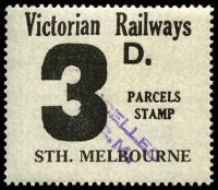 Lot 1653:1958-66 Eleventh Series 3d issued for Sth. Melbourne.