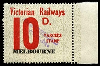 Lot 1967:1958-66 Eleventh Series 10d red issued for Melbourne.