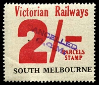Lot 1968:1958-66 Eleventh Series 2/- red issued for South Melbourne.