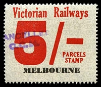 Lot 1969:1958-66 Eleventh Series 5/- red issued for Melbourne.