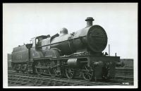 Lot 614:Railways: Black & white PPC of Steam Train & tender, real photo.