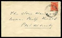 Lot 4321:Port Moresby: Australian 2½d KGV tied to cover by Port Moresby cds 6MY47.