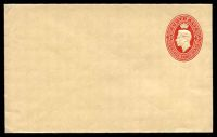 Lot 695:1950-51 3d Red KGVI Oval BW #EP45(2) on buff paper, knife 2.